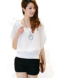 Chiffon Leisure Flounces Decoration Shirt