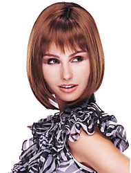 Beautiful Chestnut Brown Straight Kanekalon Women's Short Wig
