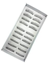10 Wimpern Augenwimpern Augenwimpern Voluminisierung Handgemacht Faser