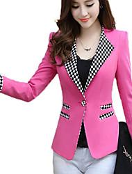 Women's Long Sleeve Tailor Collar Long Sleeve Suit Blazer