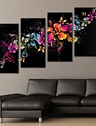 Stretched Canvas Art Gorgeous Flower Decoration Set of 4