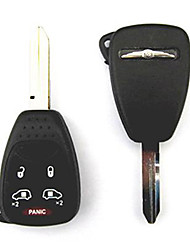 5-Button Remote Key Case for Chrysler