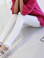 Women's Foot Mouth Was Thin Cotton Lace Lace Nine Points Leggings