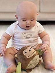 brinquedos de algodão macio bebê bola forma macaco chocalho
