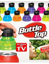 3pcs tournent convertir boîtes dans des bouteilles réutilisables pression sur les couvercles de soda hauts Caches
