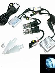 12v 35w H4-3 8000k Xenon HID kit di conversione lampada impostato con staffa di montaggio (iper reattanza sottile argento)