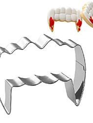 thème de l'Halloween wampire emporte-pièce en forme de dent, l 7,6 cm xl 5,2 cm xh 2,5 cm, en acier inoxydable
