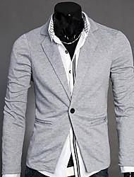 thaihoo col tailleur couleur unie pardessus des hommes