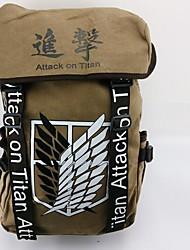 Bolsa Inspirado por Attack on Titan Fantasias Anime Acessórios de Cosplay Bolsa / mochila Azul / Marrom Tela / Náilon Masculino / Feminino