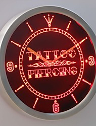 nc0341 Tattoo Piercing Neon Sign LED Wall Clock