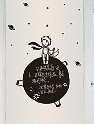 adesivos de parede adesivos de parede, modernos O Pequeno Príncipe Star Universe colar negro parede pvc adesivos