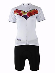 PaladinSport New Women's Cycling Jersey   Blue Lot Style 100% Polyester White Short Sleeve White Cycling Suit