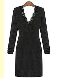 moda rendas v pescoço das mulheres tornam vestido