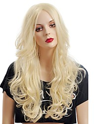 Long Curly Golden Synthetic Wigs