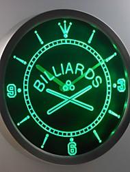 nc0351 Billardraum Bar Bier Leuchtreklame LED-Wand Uhr