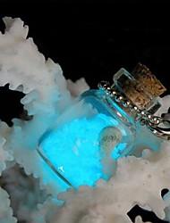 Coway botellas deseen desean fluorescencia brillante arena estrella de la suerte del teléfono móvil de la cadena de luz nocturna