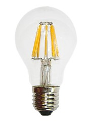 E26/E27 LED Filament Bulbs A70 6 COB 700 lm Warm White Dimmable / Decorative AC 220-240 V