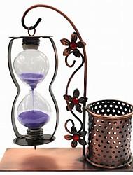 creativo appendere in ferro battuto contenitore della penna clessidra regalo (colore casuale)
