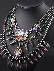 Moon Year Women's  Alloy Diamante Jewel Necklace