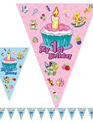 multicolor 1 ° compleanno felice compleanno accessorio bandiera bandiera del partito