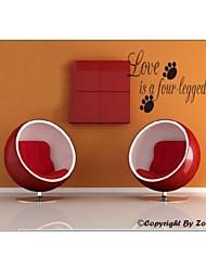 zooyoo® bonito colorido pvc palavra estilo removível 66 * 25 centímetros de adesivos de parede adesivos de parede de venda quente para a