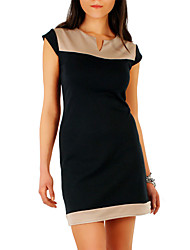 VERYM Women's Sleeveless Contrast COLor Dresses
