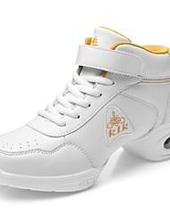Chaussures de danse ( Noir/Blanc ) - Non personnalisable - Talon bas - Cuir - Jazz