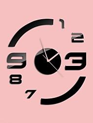 """30 """"h style moderne nouvelle acrylique simples horloge murale de miroir circulaire"""