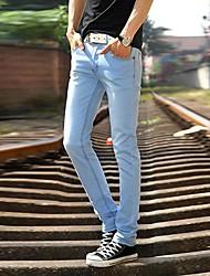 Men's Solid Casual Jeans,Denim