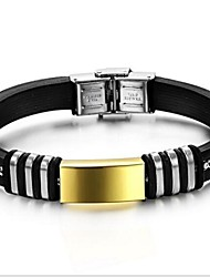 z&personnalité de la mode silicone bracelets de surface lisse de l'homme x®