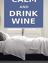Philosophic Classic Words Keep Calm And Drink Wine Roller Shade