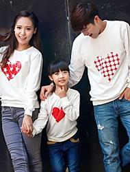 Long Sleeve Cotton Blend Family Clothing Sets , Winter/Fall Hoodie & Sweatshirt