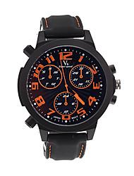 v6 Shaopeng Halei moda de luxo de couro preta de discagem esporte quartzo multi-funcional waterpoof relógio de pulso v60079
