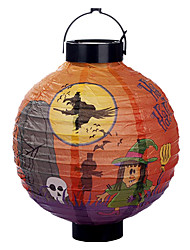 Witch Pattern White Lantern Holloween Decoration(Bulb Excluded)