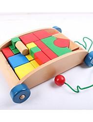 remorque en bois blocs de construction pour les enfants