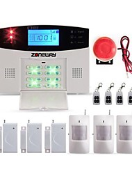 ZONEWAY® Wireless GSM SMS Home Burglar Intruder Security Alarm System with LCD, 99 Wireless Defense Zones