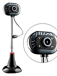 007 12.0 Megapixels Night-version USB Drive-free Webcam with Microphone