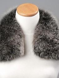 unisex nero alla moda&grigio vera genuina pelliccia di volpe avvolgere sciarpa collare