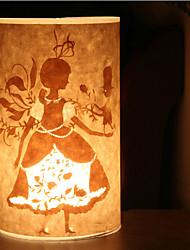 1 lámpara de pie estilo de dibujos animados luz 220v pantalla chica patrón pergamino