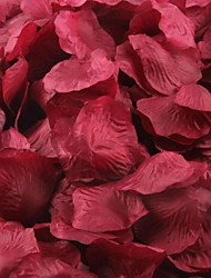 Dark Red Rose Petals Table Decoration(Set of 100 Petals)
