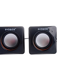 SVO U-11 Protable USB 2.0 Mini Speaker for PC / Cellphone / MP3 / DVD 1-Pair