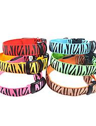 Cani Collari Luci a LED / Leopardo Rosso / Verde / Blu / Rosa / Giallo / Arancione Nylon