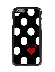 Personalized Case Lovely Dots Pattern Metal Case for iPhone 6 Plus