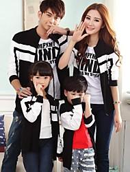 семьи моды и джокер родители детей, соединяющие полосы молния спортивные куртки