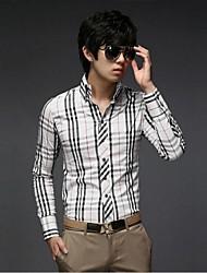 Men's Casual Long Sleeve Slim Shirt