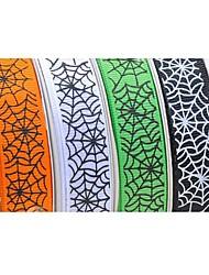 3/8 pouce série Halloween web motif nervure ruban d'impression de ruban d'araignée