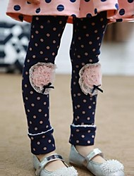 Girl's Blue / Pink Leggings Cotton Blend / Lace Winter / Spring / Fall