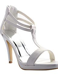 Women's Wedding Shoes Platform/T-Strap/Open Toe Sandals Wedding/Dress/Party & Evening Black/Red/White