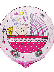 Pink Baby Girl Carriage Aluminium Membrane Baby Shower Birthday Party Balloon(1 PCS)