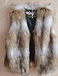 Women's Elegant Faux Fur Short Vest